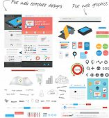 Flat web template design