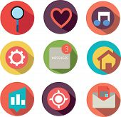 Modern web icons - Vector flat style
