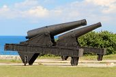 image of el morro castle  - The cannon at the fortress of El Morro in Cuba - JPG