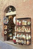 TUCANY, ITALY - MAY 05.  Little store along a street on May 05, 2009 in San Gimignano, Italy.