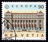 Postage Stamp Switzerland 1990 Post Office, Geneva