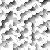 White Technological Abstract Three-dimensional Background With Hexagons. Eps10