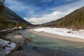 Valley of the Isar River, Bavaria, German Alps