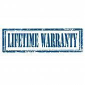 Lifetime Warranty-stamp