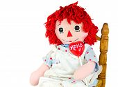 Old doll with Valentine Lollipop