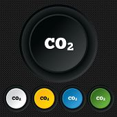 CO2 carbon dioxide formula sign icon. Chemistry