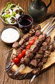 picture of souvlaki  - lamb shashlik - JPG