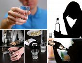 pic of forlorn  - Collage of alcoholism close - JPG