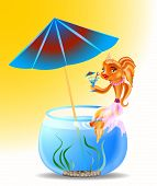 Goldfish On Holiday