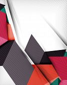picture of pyramid shape  - Geometrical shape abstract background - JPG