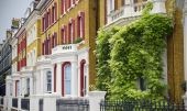 stock photo of knightsbridge  - Typical Apartments Building at West  - JPG