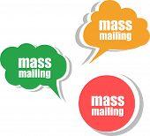 Mass Mailing. Set Of Stickers