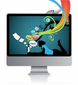 Screen Girl Laptop