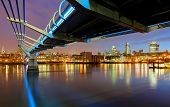 picture of church-of-england  - Millenium Bridge in a London England - JPG