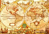 World Antique Map poster