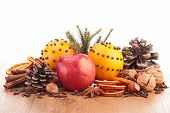 christmas food and ingredients
