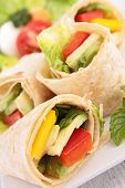 foto of sandwich wrap  - sandwich wrap - JPG