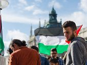 Young European Activists At The Palestinian Demonstration