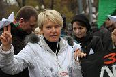 Russian environmentalist Yevgeniya Chirikova support crew arrested ship Greenpeace Arctic Sunrise