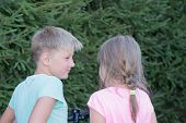 Girl And Boy Talking