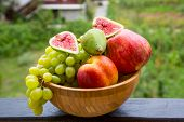 Fruit Bowl With  Fruits