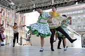 ZAGREB, CROATIA - JULY 19: Members of folk group Moscow, Russia during the 48th International Folklo