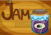 Illustration of a wooden frame with a jam