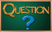 Illustration of a blackboard with a question mark