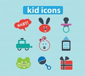 kid, toys, children black isolated icons, signs, silhouettes, illustrations set, vector