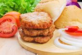 Homemade Burger,hamburger With Vegetable