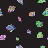 Colorful Stones Seamless Pattern