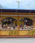 Snack Stands in Banos, Ecuador