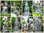 Statue at wat po bangkok: