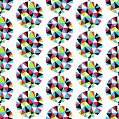 Geometric seamless pattern with gems. Vector illustration.