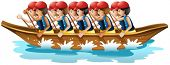 Illustration of a boat racing