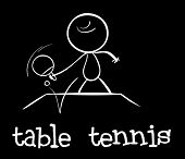 Illustration of a stickman playing table tennis