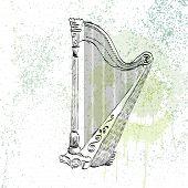 Concert harp