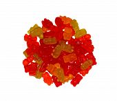 Multicolored Chewing Marmalade As Bears Isolated