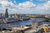 LONDON, UK - AUGUST 9, 2014 London skyline and  river Thames