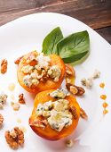 Roasted Peaches With Dorblu Cheese