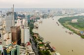 Saigon river after the rain