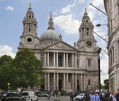 LONDON, UK - JULY 6, 2014: St. Pauls cathedral, mail entrance