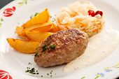 cutlet with potatoes