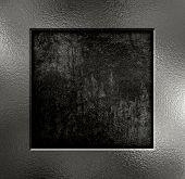 Silver metal frame on a grunge background