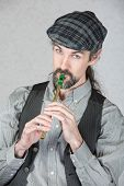 Celtic Folk Musician Playing Flute