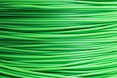 Filament For 3D Printer In Light Green In Detail