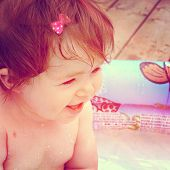 Baby with instagram effect