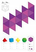 picture of handicrafts  - Paper model of an icosahedron - JPG