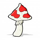 stock photo of toadstools  - cartoon poisonous toadstool - JPG