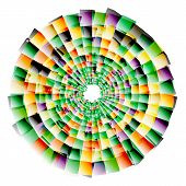 stock photo of nano  - Vector nano texture color web abstract line circle - JPG